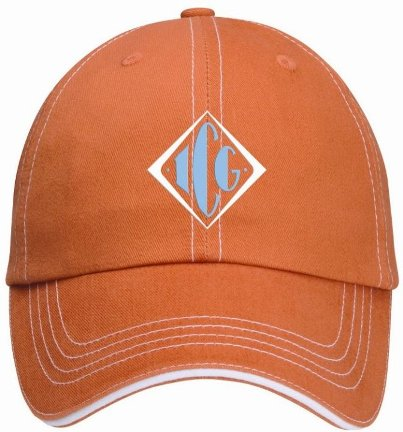 Accent Sandwich Burnt Orange Imprinted Cap Image