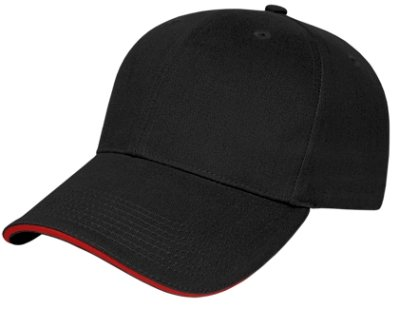 Black/Red Classy Sandwich Hat Image