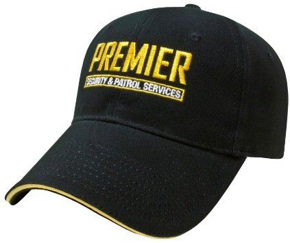 Black/Yellow Classy Sandwich Embroidered Hat Image