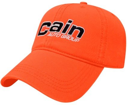 Orange Relaxed Golf Embroidered Hat Image