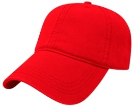 Red Relaxed Golf Hat Image