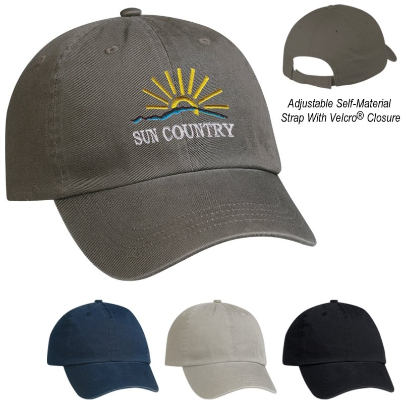 Promotional Hat 6 Panel Cotton Chino Colors Image