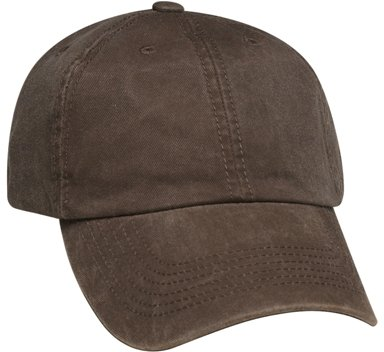 Brown 6 Panel Soft Washed Hat Image