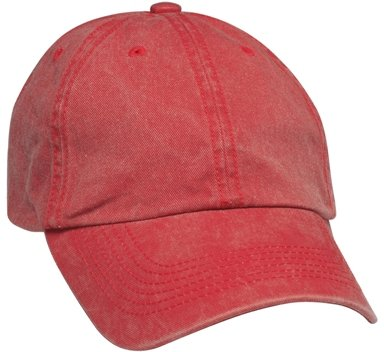 Red 6 Panel Soft Washed Hat Colors Image