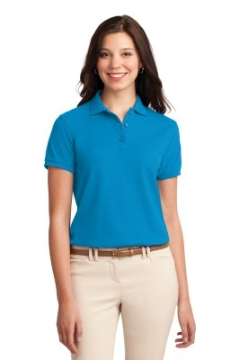 Ladies Polo Shirt Model Front