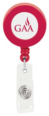Custom Promotional Badge Holder Solid Red Colors Image