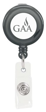 Custom Promotional Badge Holder Translucent Black Colors Image