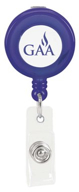 Custom Promotional Badge Holder Translucent Purple Colors Image