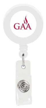 Custom Promotional Badge Holder Solid White Colors Image