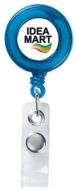 Custom Retractable Badge Holder Trans Blue Colors Image