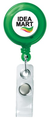 Custom Retractable Badge Holder Trans Green Colors Image