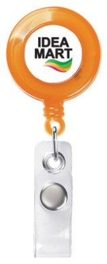 Custom Retractable Badge Holder Trans Orange Colors Image