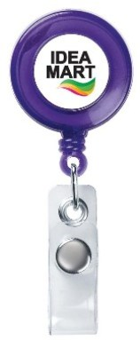 Custom Retractable Badge Holder Trans Purple Colors Image