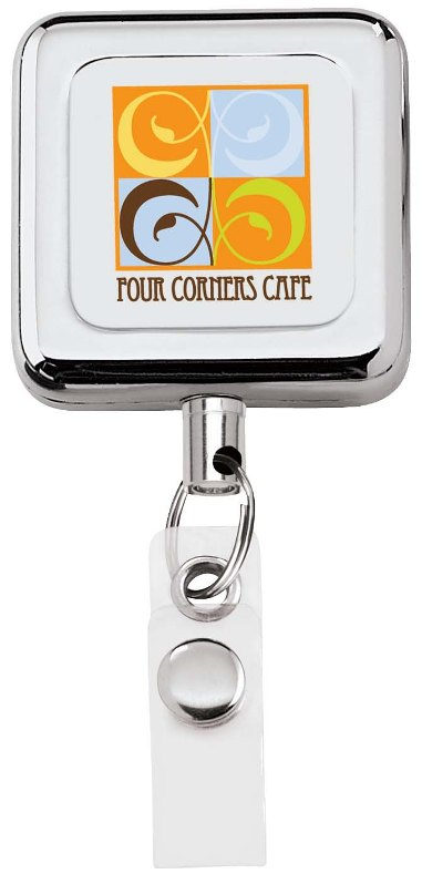 Square Metal Badge Holder Image