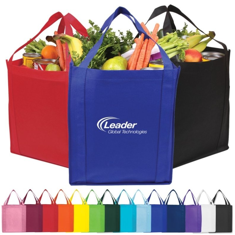 Jumbo Grocery Cheap Tote Colors