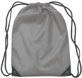 Medium Drawstring Backpack Gray Color Image