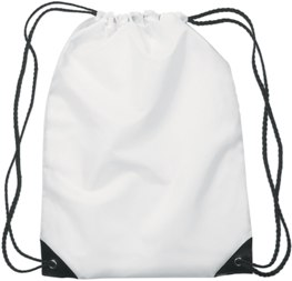 Medium Drawstring Backpack White Color Image