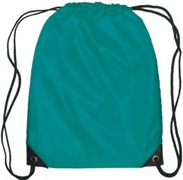 Medium Drawstring Backpack Teal Color Image