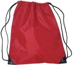 Medium Drawstring Backpack Red Color Image