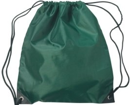 Medium Drawstring Backpack Forest Green Color Image