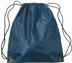 Medium Drawstring Backpack Navy Blue Color Image