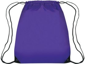 Medium Drawstring Backpack Purple Color Image