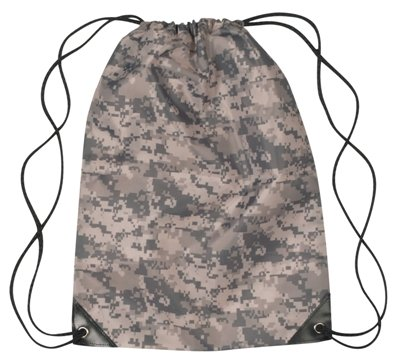 Medium Drawstring Backpack Digital Camo Color Image