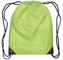 Medium Drawstring Backpack Lime Green Color Image