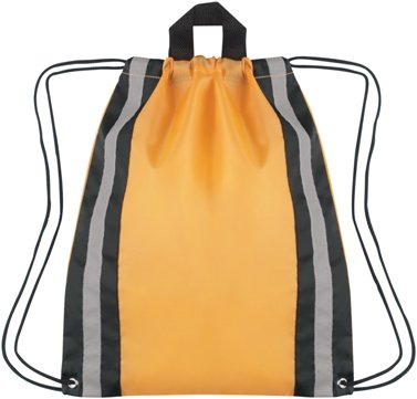 Large Reflective Drawstring Backpack Yellow Color Image