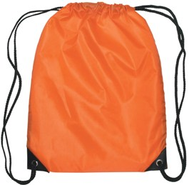 Medium Drawstring Backpack Orange Color Image