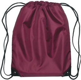 Medium Drawstring Backpack Maroon Color Image