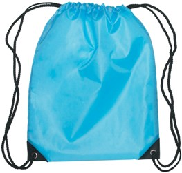 Medium Drawstring Backpack Carolina Blue Color Image