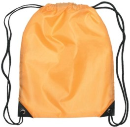 Medium Drawstring Backpack Athletic Gold Color Image