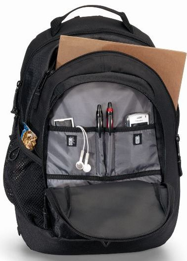 Life in Motion Primary Open Laptop Backpack Image
