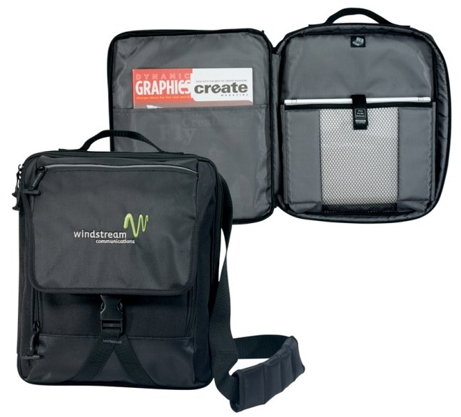 Netbook Vertical Laptop Bags Open Features Image