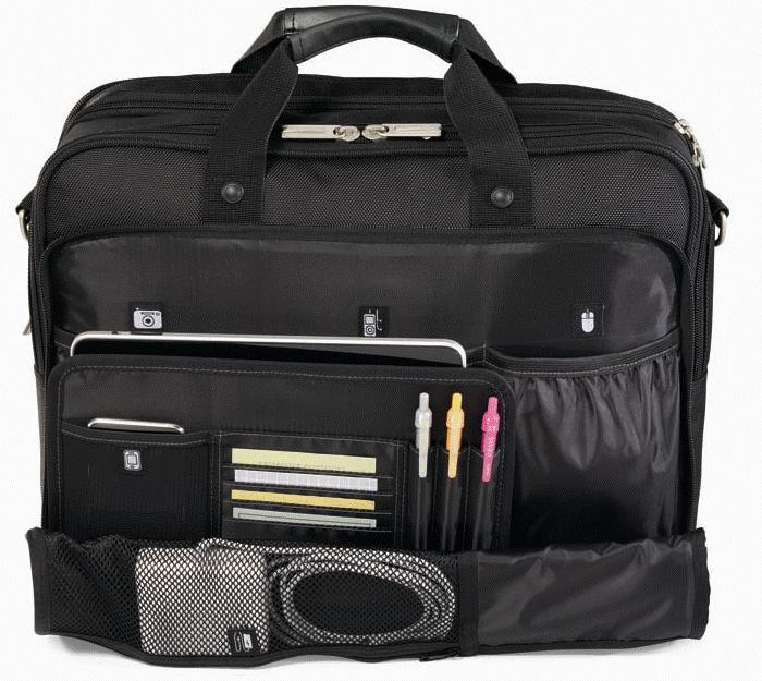 Travis && Wells Executive Laptop Bag Organizer Features Image