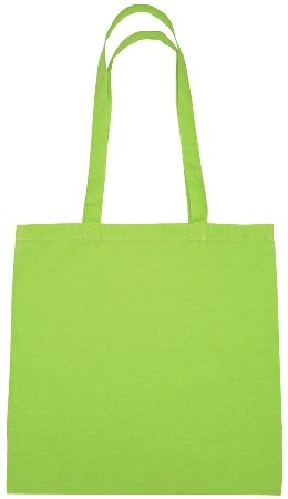 Cotton Promotional Tote Bag Lime Color Image