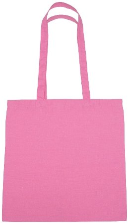 Cotton Promotional Tote Bag Pink Color Image