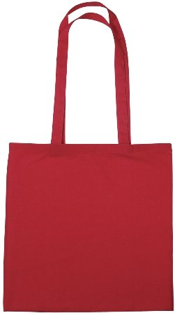 Cotton Promotional Tote Bag Red Color Image