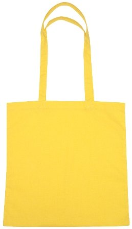Cotton Promotional Tote Bag Yellow Color Image