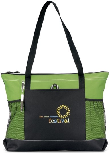 Select Promotional Tote Bag Apple Green Color Image