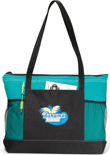 Select Promotional Tote Bag Turquoise Color Image