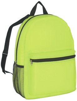 Budget Promotional Backpack Lime Color Image