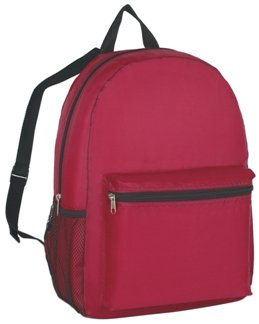 Budget Promotional Backpack Maroon Color Image