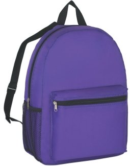 Budget Promotional Backpack Purple Color Image