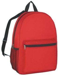 Budget Promotional Backpack Red Color Image