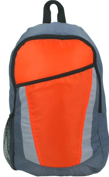 City Promotional Backpack Orange Color Image