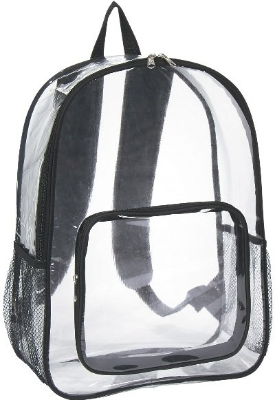 Clear Promotional Backpack Black Trim Color Image