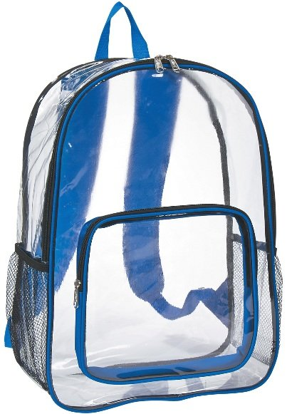 Clear Promotional Backpack Royal Trim Color Image