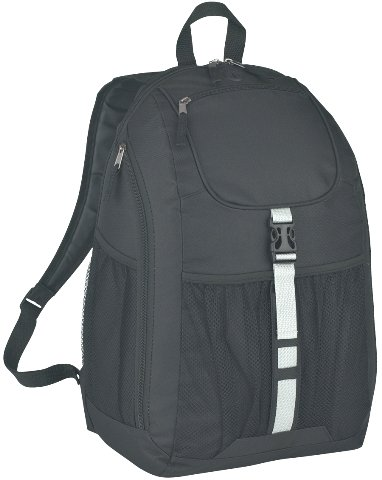 Deluxe Promotional Backpack Black Color Image